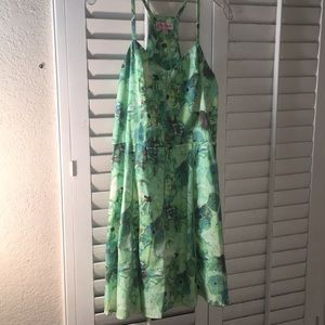 Candie's | spring green floral dress | size 9